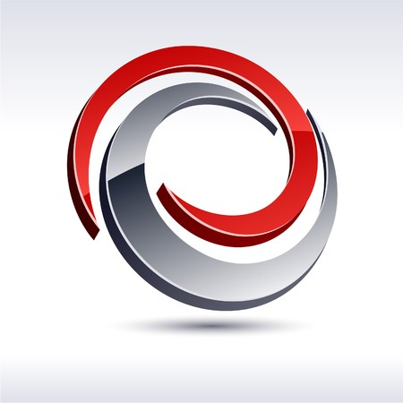 two companies: Abstract modern 3d swirl logo.