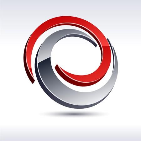 protuberant: Abstract modern 3d swirl logo.