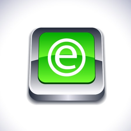 Enternet metallic 3d vibrant square icon.  Stock Vector - 7286984