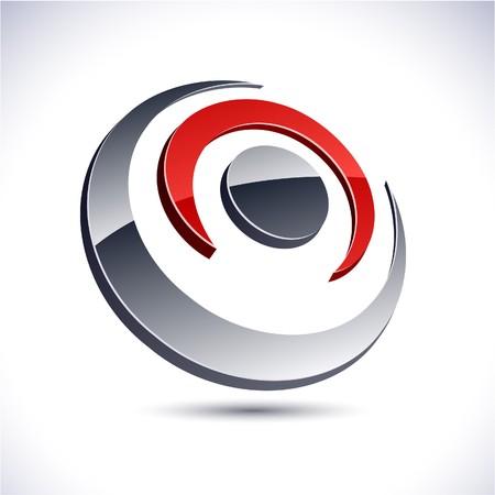 protuberant: Abstract modern 3d flower logo.