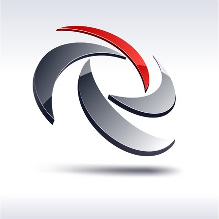 to rotate: Abstract modern 3d rotate logo.