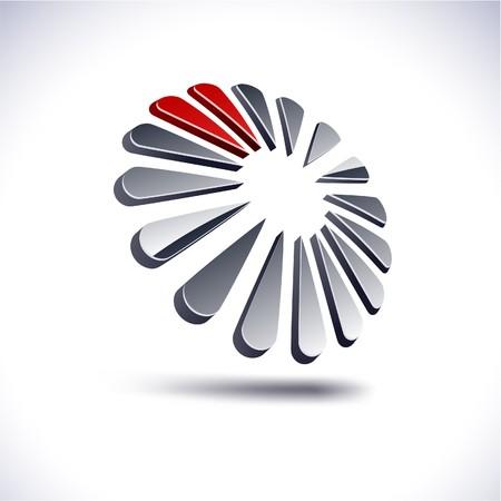 distinct: Abstract modern 3d dandelion logo.