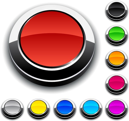 Blank 3d round buttons. Stock Vector - 7293059