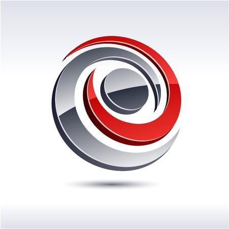 Abstract modern 3d rotate logo.