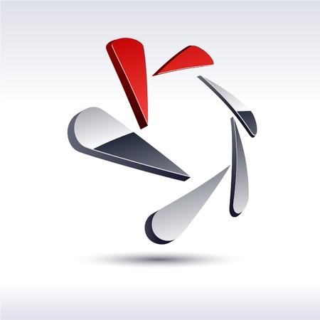 Abstract moderne 3d zeshoekige logo.