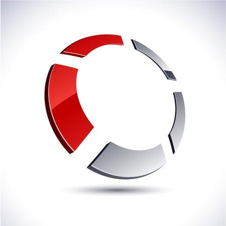 salient: Abstract modern 3d round  logo.