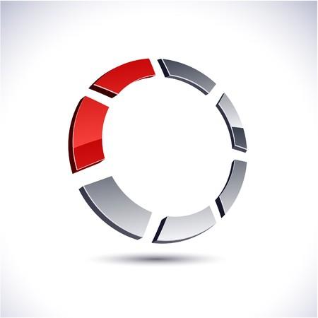 Abstract modern 3d ring logo.  Stock Vector - 7297301