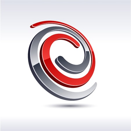 protuberant: Abstract modern 3d knot logo.