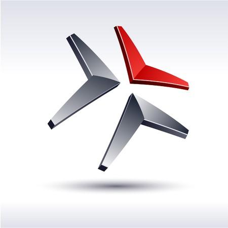 Abstract modern 3d logo. Stock Vector - 7316202