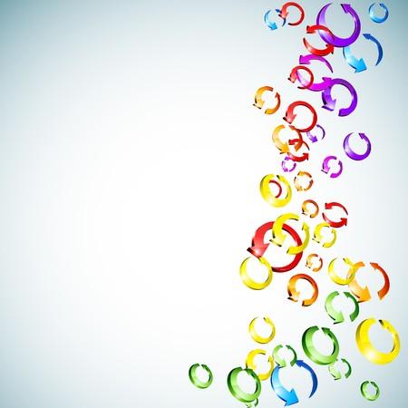 3d rainbow: Abstract modern spectrum background. Illustration