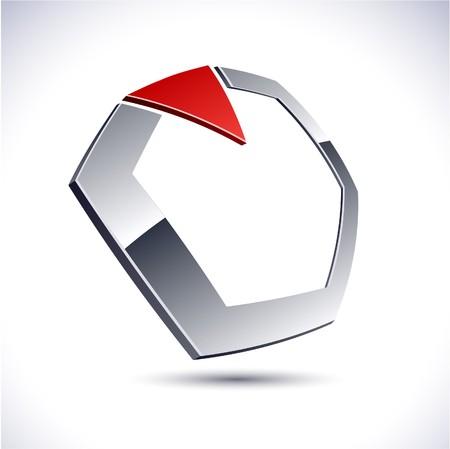 salient: Abstract modern 3d diamond logo.