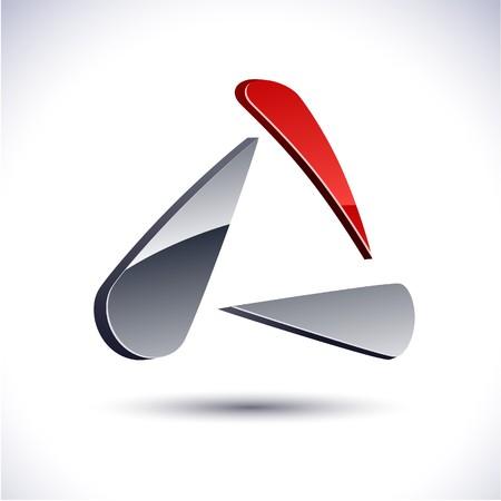 salient: Abstract modern 3d triangular logo.