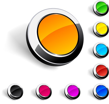 Blank 3d round buttons. Stock Vector - 7316257