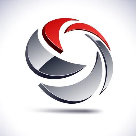 抽象的な現代 3 d ロゴを旋回します。