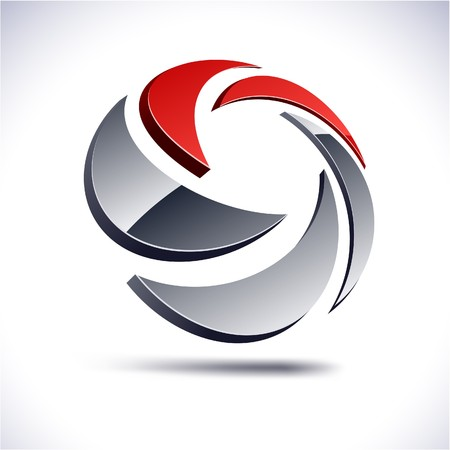 to rotate: Abstract modern 3d swirl logo.