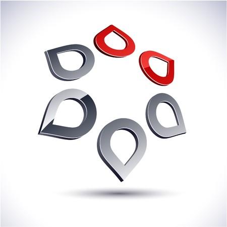 salient: Abstract modern 3d star logo.