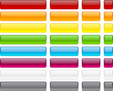 Long and short rectangular buttons.  Vector