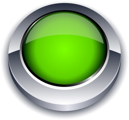Blank 3d green button  Stock Vector - 7322101