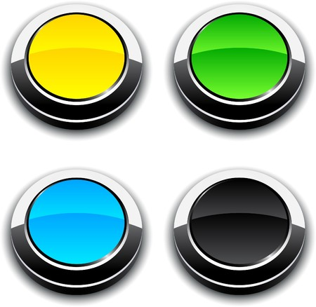 Blank 3d round buttons.  Vector