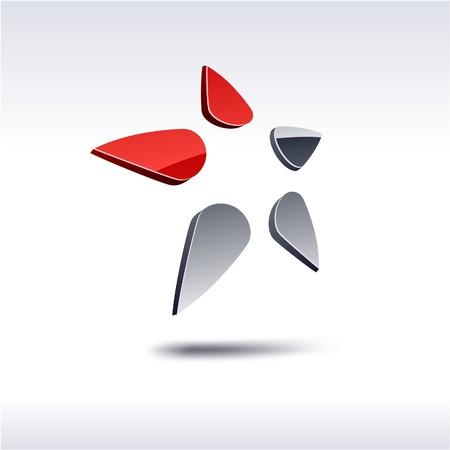 Abstract modern 3d star logo.  Stock Vector - 7338373