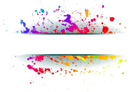 Abstract grunge spectrum background. Stock Vector - 7338383