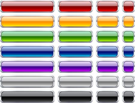 metallic button: Long and short rectangular buttons.  Illustration