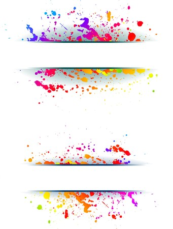 blots: Abstract grunge spectrum backgrounds Illustration