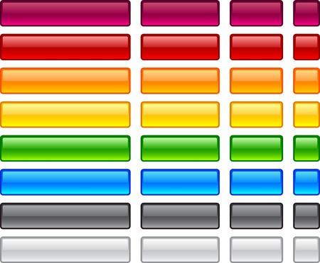 rectangle button: Long and short rectangular buttons.  Illustration