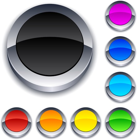 Blank 3d round buttons Stock Vector - 7385267
