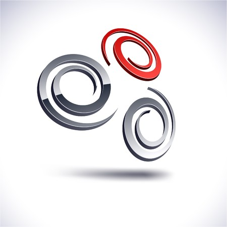 Abstract modern 3d swirl logo Stock Vector - 7385268