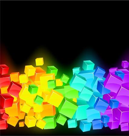 red cube: Sfondo astratto spettro moderni