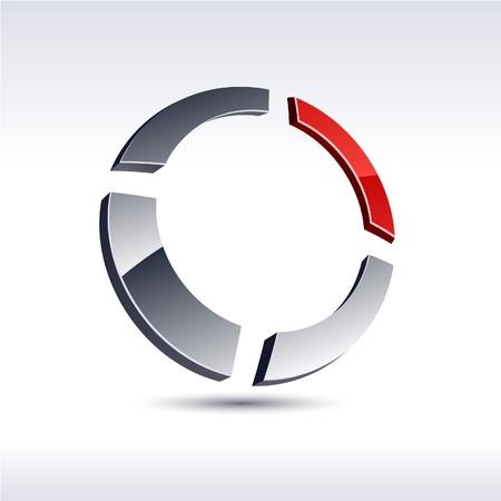 Abstract modern 3d ring logo Stock Vector - 7385365