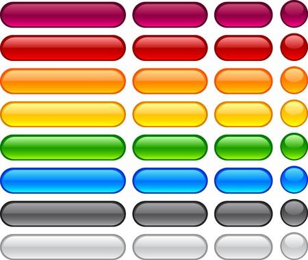 Long and short pill buttons.   Vector