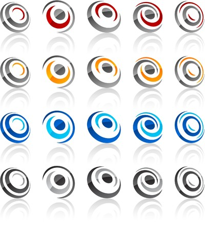 illustration of round symbols. Vector
