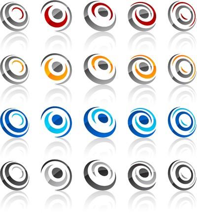 convex shape:   illustration of round symbols.