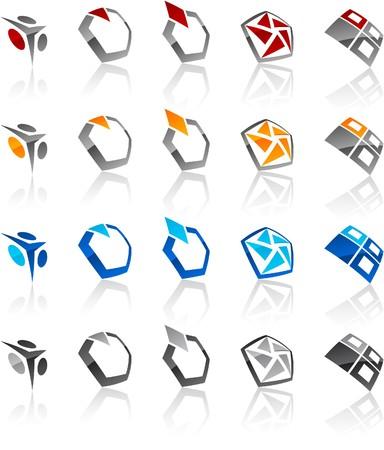 hexagonal:   illustration of geometric symbols.