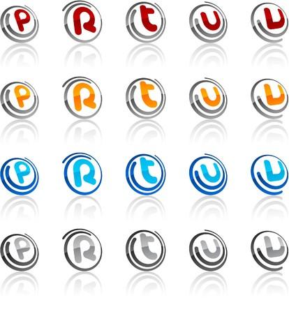 illustration of letter symbols.  Vector