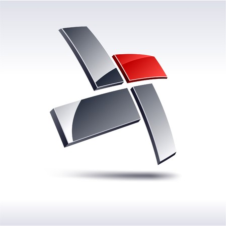 icons logo: Abstract modern 3d geometrische Logo.