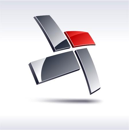 logos negocios: Abstracto moderno 3d logotipo geom�trico.