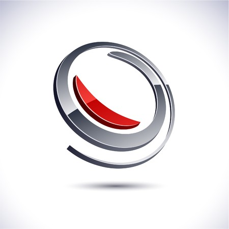 protuberant: Abstract modern 3d rotate logo.  Illustration