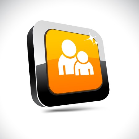 Forum metallic 3d vibrant square icon. Stock Vector - 7426110