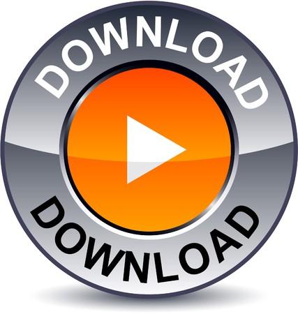 Download round metallic button  Vector