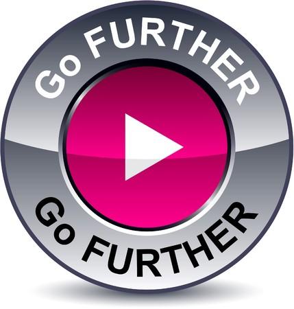 metallic button: Go further round metallic button.   Illustration