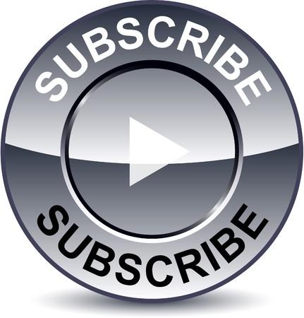subscribe: Subscribe round metallic button.
