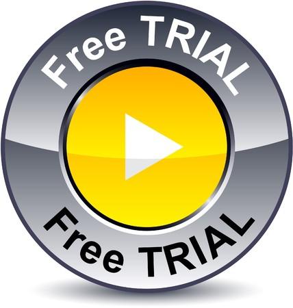 triangle button: Libre bot�n met�lico redondo prueba.