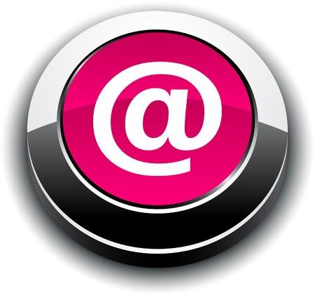 arroba: Arroba metallic 3d vibrant round icon.   Illustration