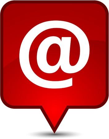 arroba: Arroba  glossy speech square icon.