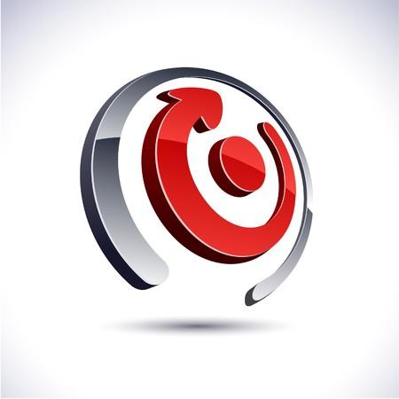 loghi aziendali: Logo di freccia astratto 3d moderni.