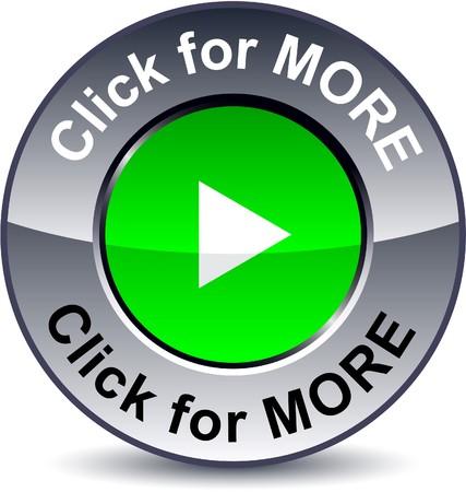 triangle button: Haga clic para m�s ronda bot�n met�lico.  Vectores