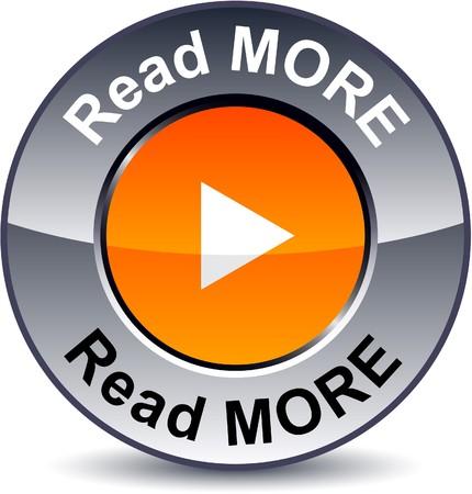 Read more round metallic button. Stock Vector - 7825758